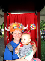 Dragon Boat Festival - red curtain booth